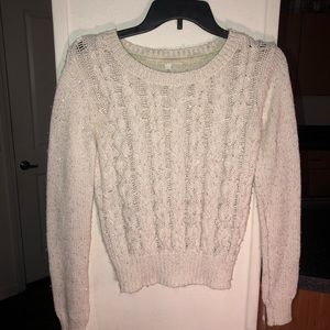 Aeropostale Cable-knit Sweater with sequins